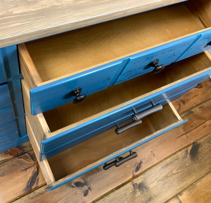 Turq Dresser drawers