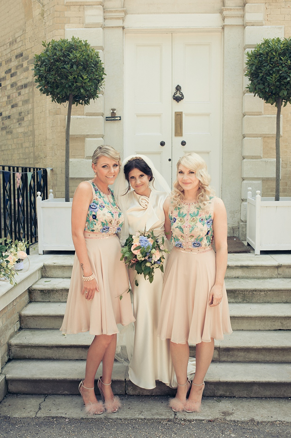 A Glamorous David Fielden Dress And Pink Sparkly Shoes For