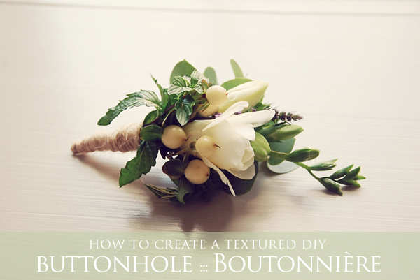 How To Make Wedding Buttonholes: How To Create Your Own DIY Textured Button Hole
