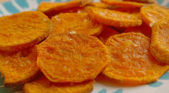 Chips van zoete aardappel