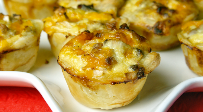 Mini quiches met makreel