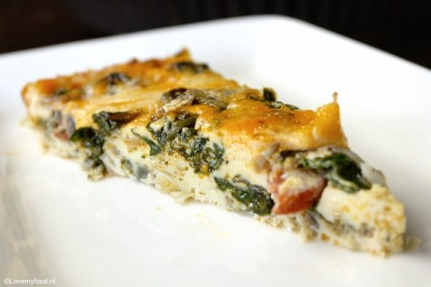 Frittata met spinazie en chorizo 3