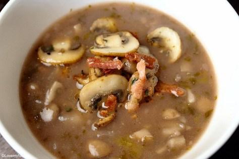 champignonsoep met port en spekjes 3