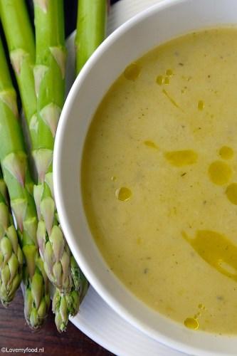 Soep van groene asperges Honig soep creatie