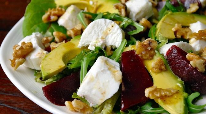 Salade met bietjes, geitenkaas en honing-balsamicodressing 3