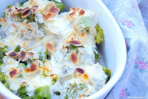 Broccoli gegratineerd met geitenkaas en creme fraiche 2