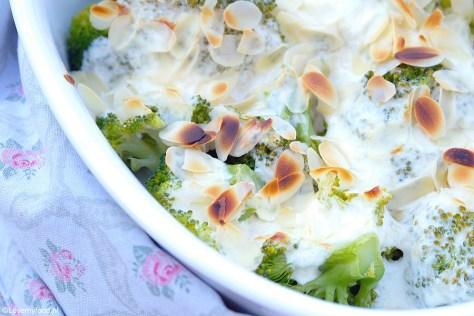 Broccoli gegratineerd met geitenkaas en creme fraiche 3