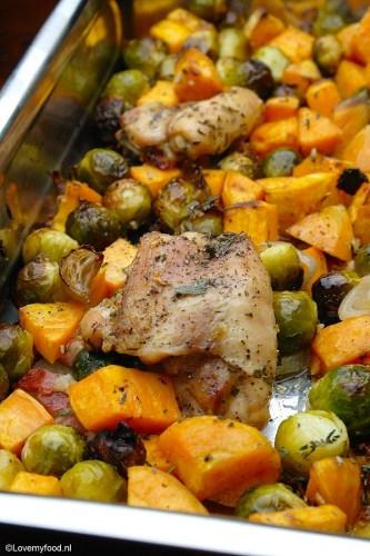 ovenschotel-met-kipdijfilet-spruitjes-en-zoete-aardappel5
