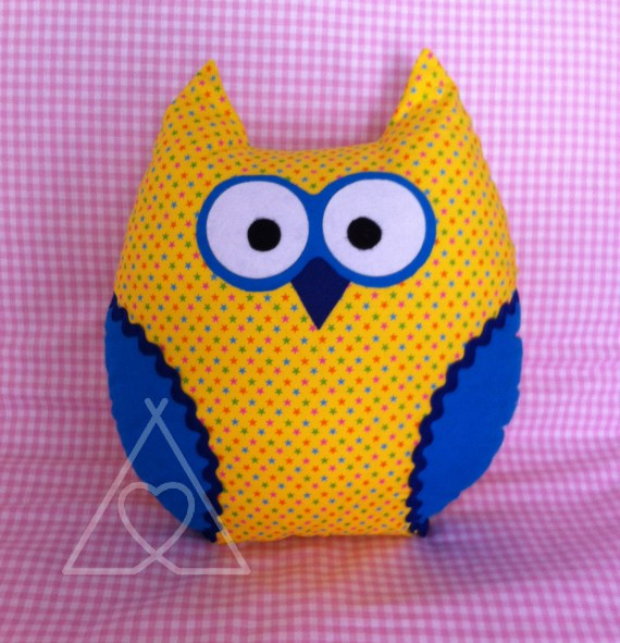 childrens owl cushion