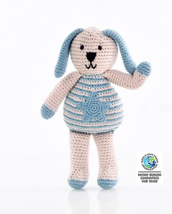 Organic knitted bunny toy best years