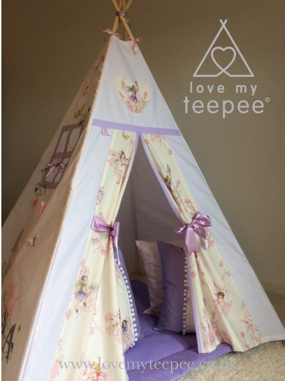 personalised teepee lilac set