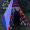 royal blue space planets cosmo teepee