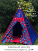 marvel spider man blue teepee tent