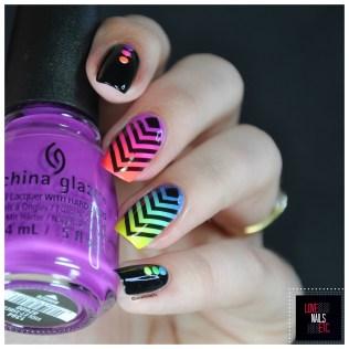 Rainbow geomtric nail art12