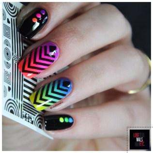 Rainbow geomtric nail art7