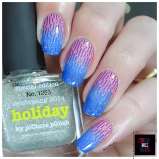 Stamping Master Coral & Blue - Infinity Nails 116