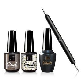 Pack Sensation - 38,00€ 1 top & base coat + 2 vernis Glash + Cadeau: 1 dotting tool