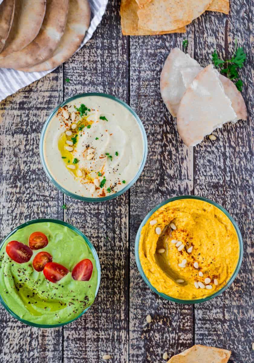 Simple Everyday Hummus Three Ways