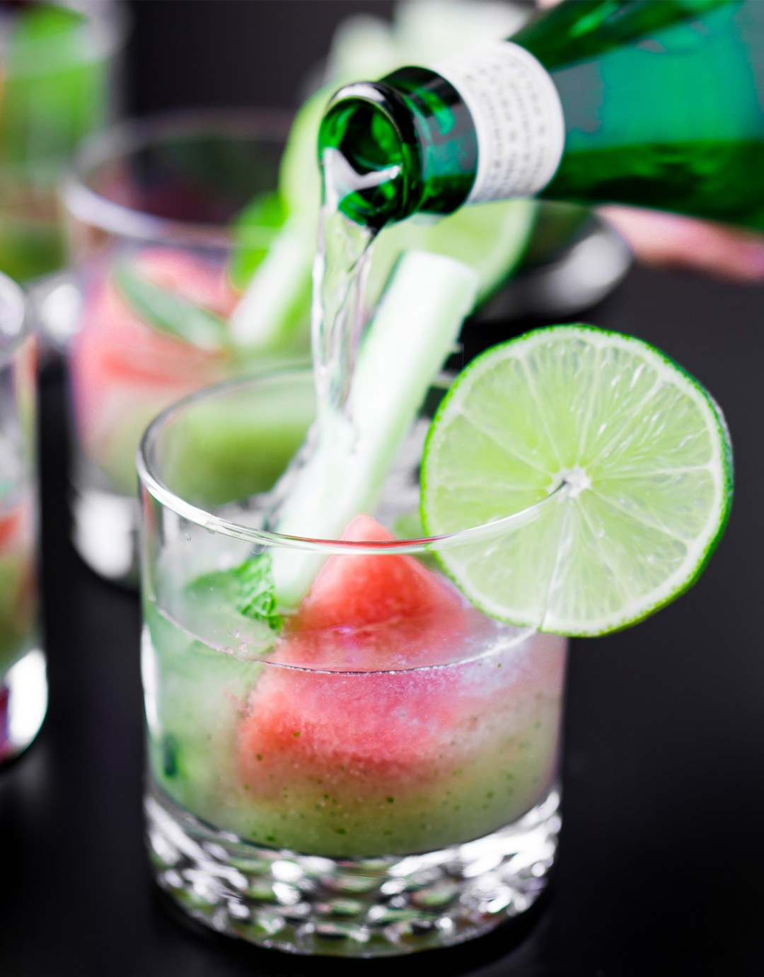 Cucumber & Watermelon Mint Mojitos