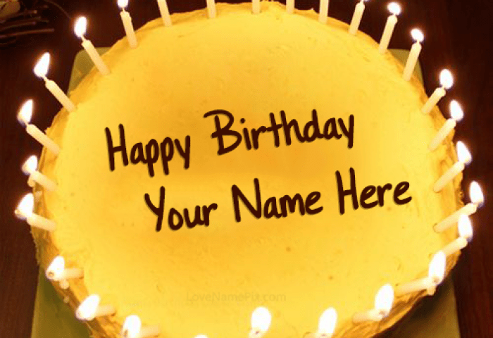 Candles Birthday Cake Generator For Boys With Name Edit Birthday