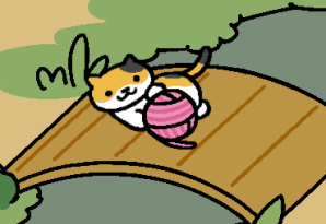 pink ball of string neko atsume