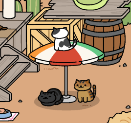 umbrella/parasol neko atsume