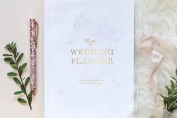 marbre feuille or livre mon wedding planner