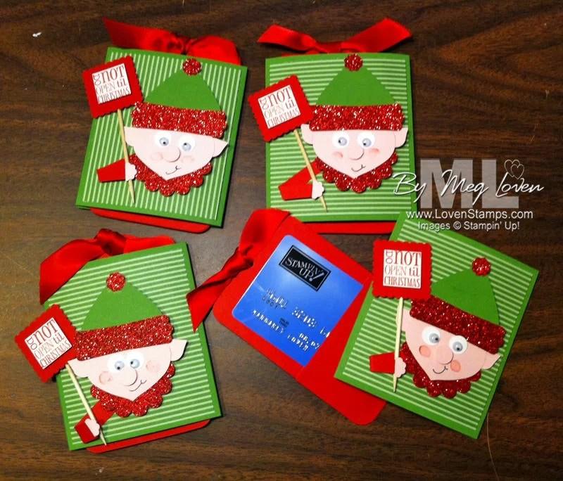 Elf On The Shelf Punch Art For Gift Cards LovenStamps