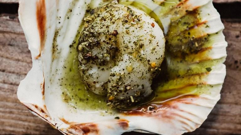 Warum soll es nicht mal Fisch vom Grill sein    –     Jakobsmuscheln