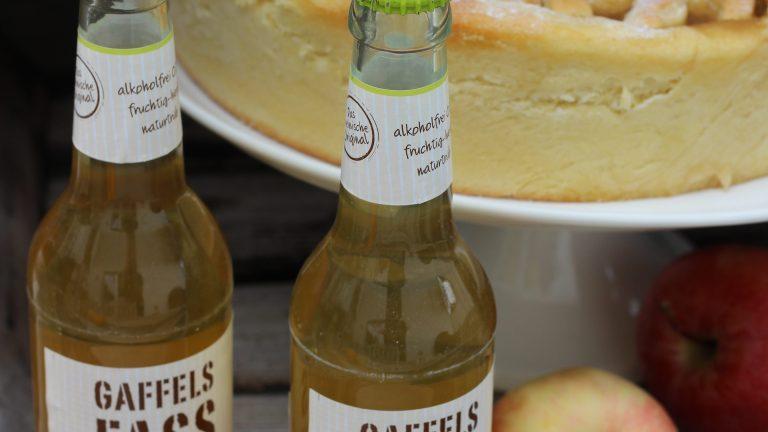 Gaffels Fassbrause – Apfel naturtrüb – Hefe-Riemchenkuchen #Werbung