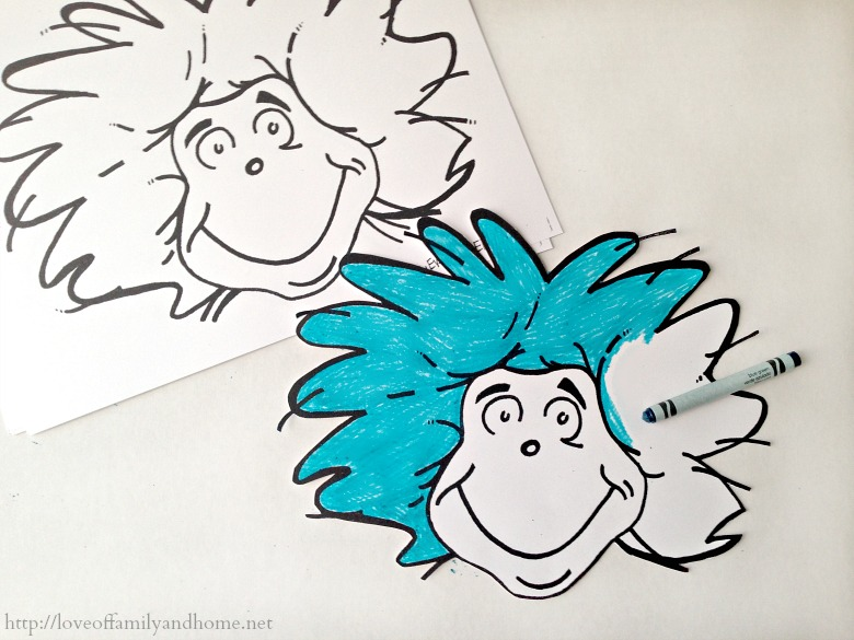 Magnificent Thing 1 Thing 2 Coloring Pages Image Coloring Page
