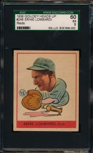 1938 Goudey A Lombardi Front
