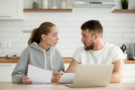 Financial issues in marriage. Couples making their plans