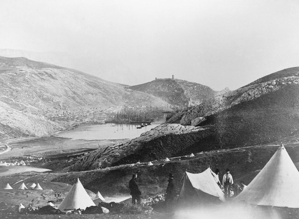 Лагерь британской пехоты в Балаклаве во время Крымской войны