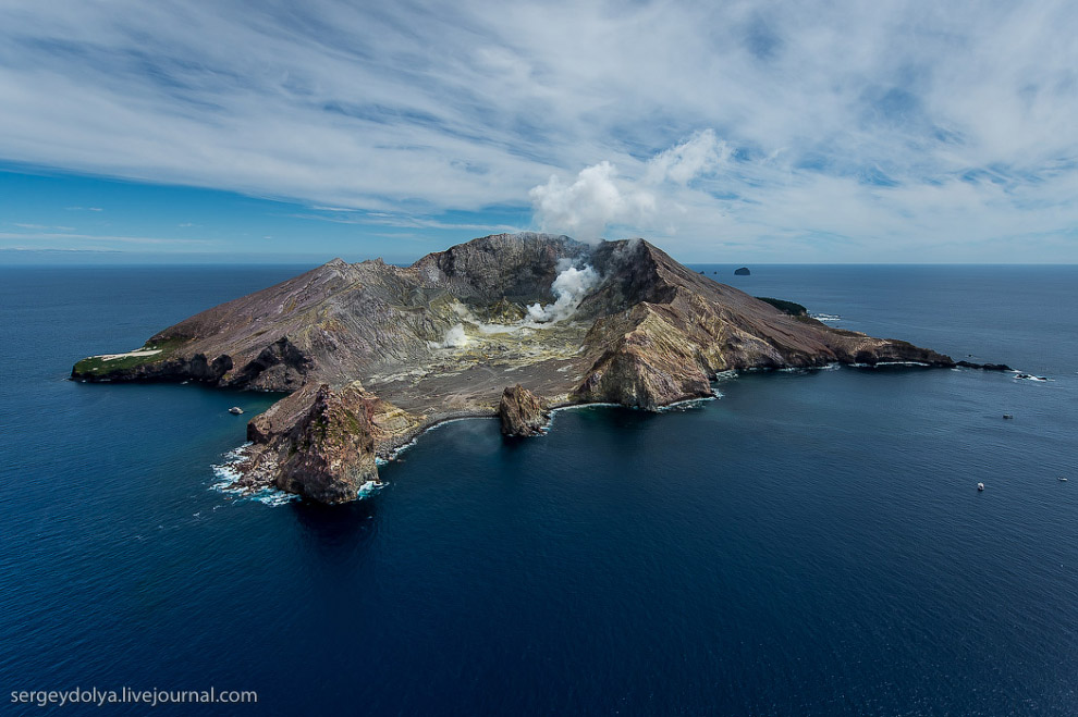 Остров Уайт — частный вулкан посреди океана