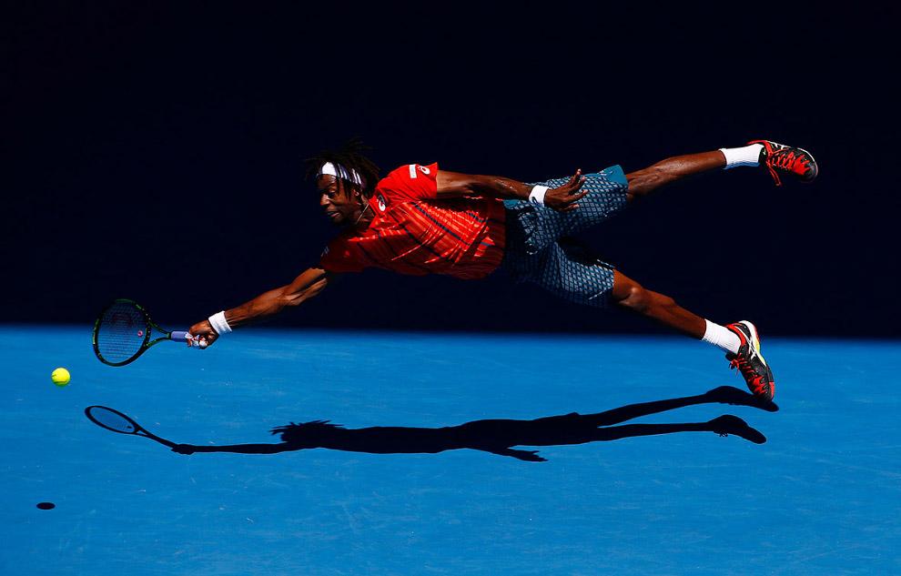 «Супермен» Гаэль Монфис на Открытом чемпионате Австралии по теннису