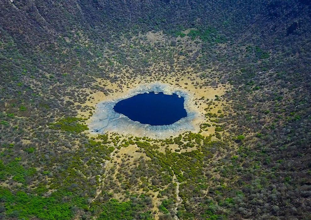 Кратер потухшего вулкана Эль Сод