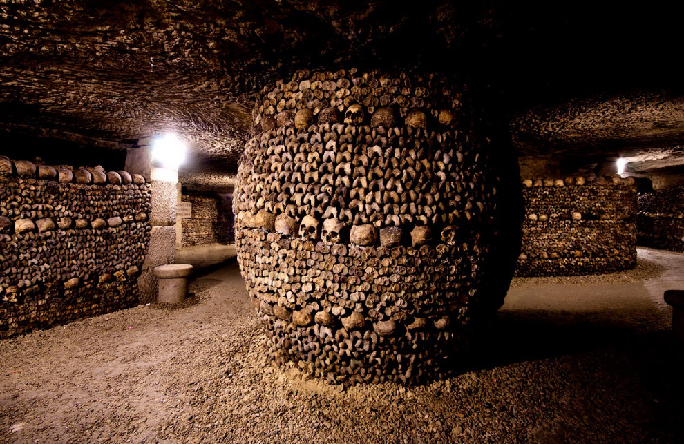Paris Catacombs.