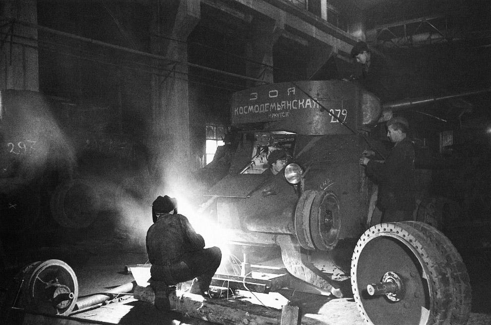 Сборка танка БТ-5 «Зоя Космодемьянская»