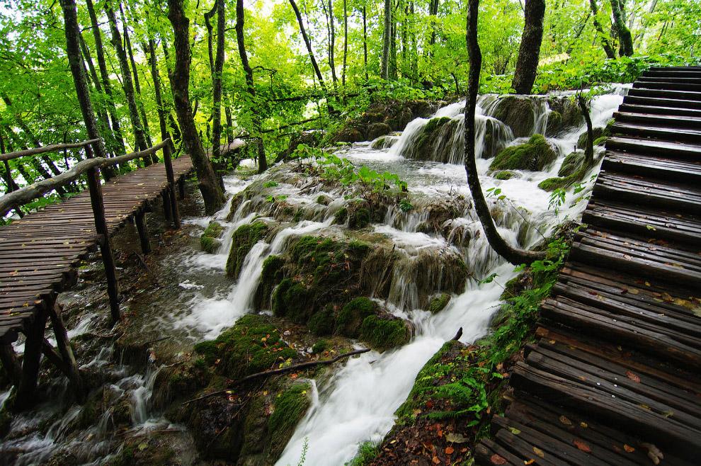 Территория национального парка «Плитвицкие озёра»