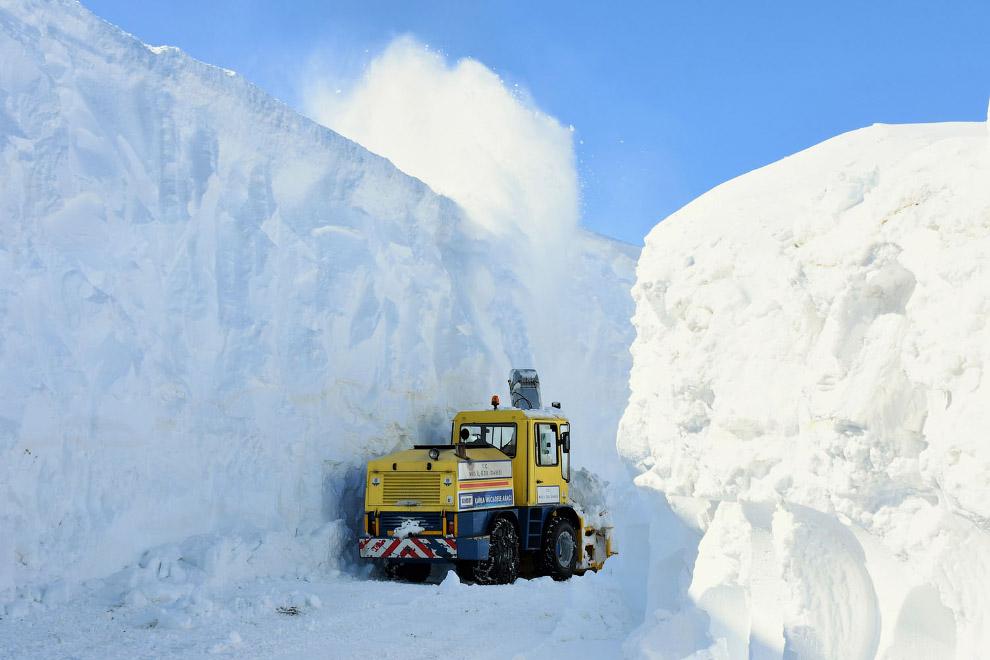 После снегопада в Мусе, Турция