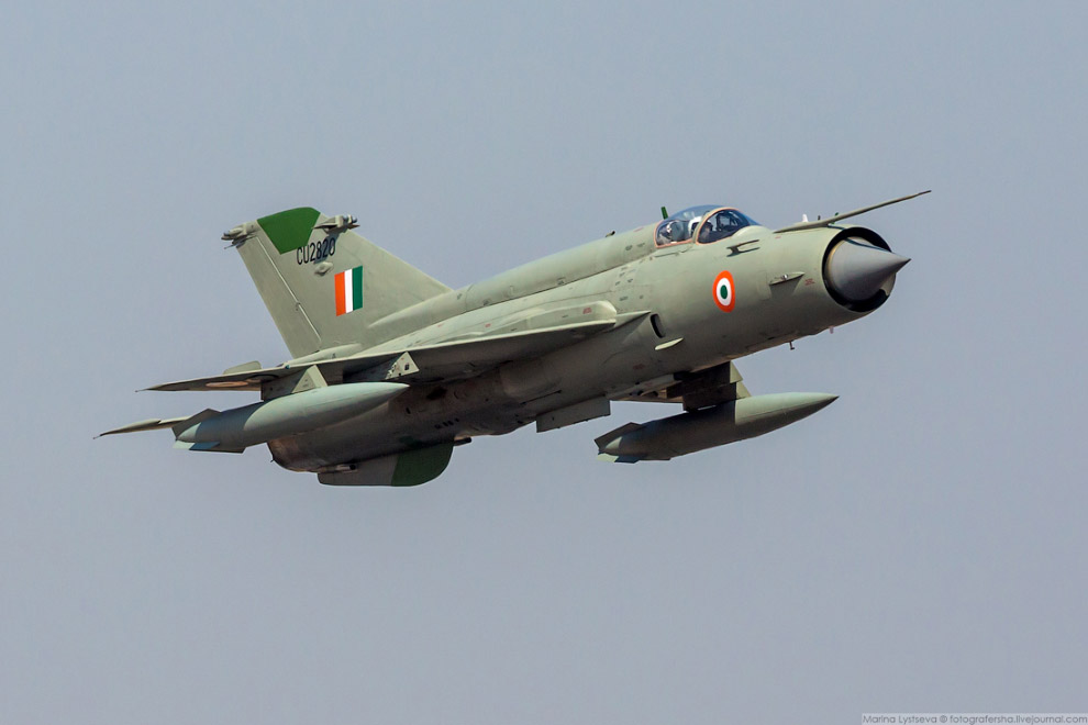 Раритетный МиГ-21 ВВС Индии .