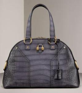 Crocodile Embossed Handbag