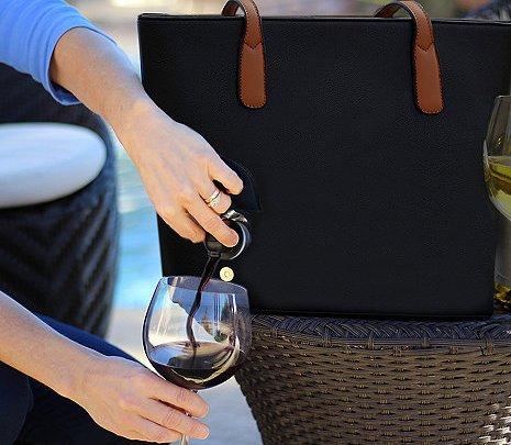 dispenses wine