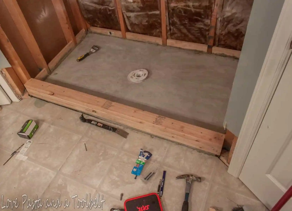 Image Result For How To Build A Shower Pan On A Concrete Floor