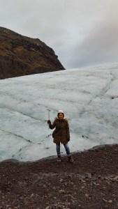 At the foot of Vatnajokull glacier