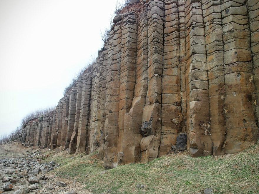 澎湖の玄武岩