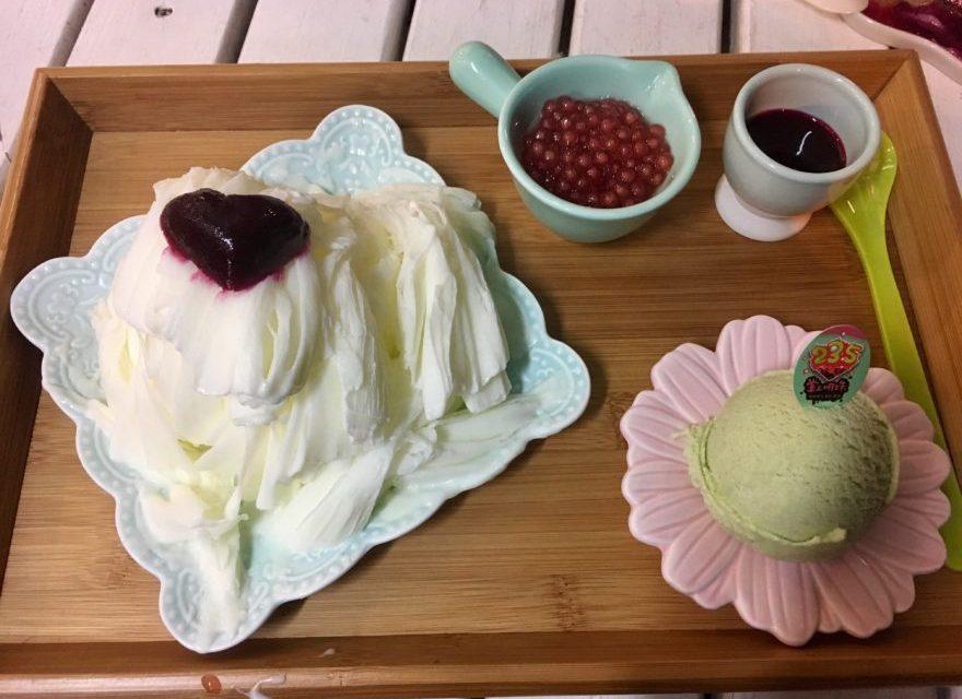 澎湖(ポンフー)ならではのアイスとフワフワかき氷を食べられる「23.5掌上明珠」