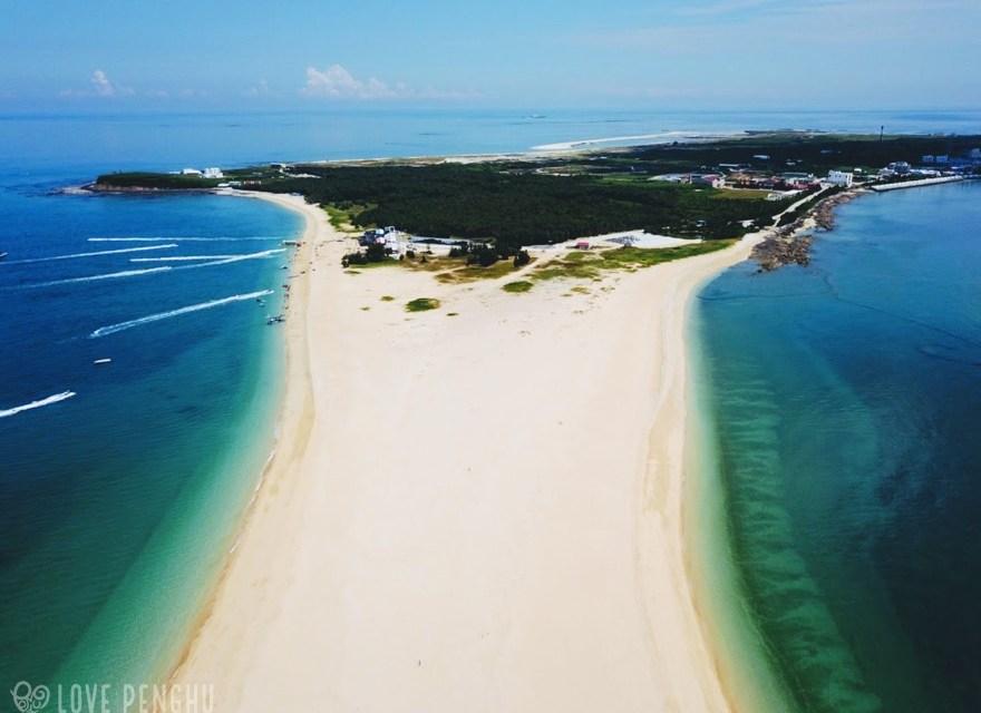 海に突き出た砂浜にハート型の石滬…吉貝嶼には魅力がたくさん!