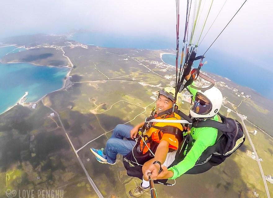 パラグライダーで澎湖(ポンフー)の絶景を空から味わう! 人生初体験!